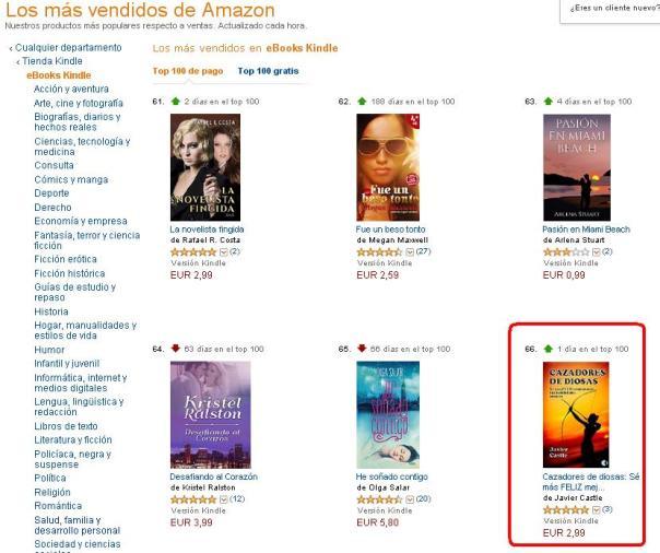 Posicion 66º más vendidos Amazon